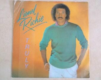 1980s Vinyl Lionel Ritchie Truly Single