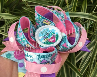 Hairbow - Home is anywhere my mom is - Boutique Bow