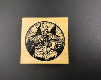 Stamp of Excellence, Inc. rubber stamp - two witches