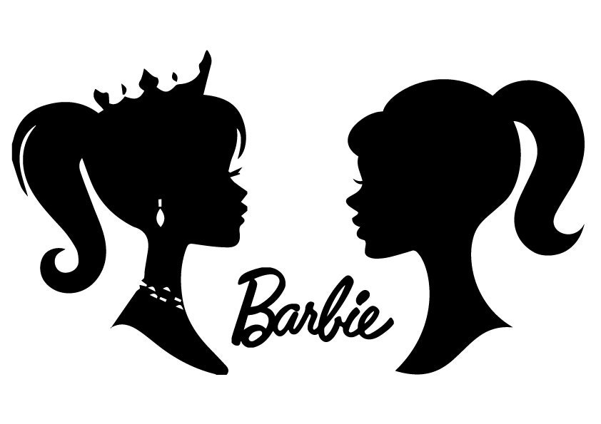barbie silhouettes file barbie silhouettes svg by svgfileslab