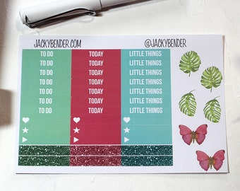 Butterfly Header To Do Today Little Things Planner Stickers Vertical Erin Condren