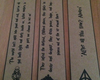 Harry Potter Bookmarks - Dark Mark. Great Gift. Set of 3.