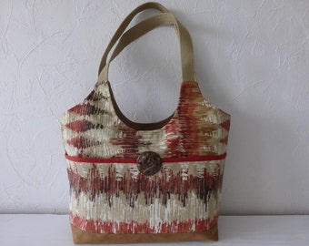 Ethnic inspired print fabric purse