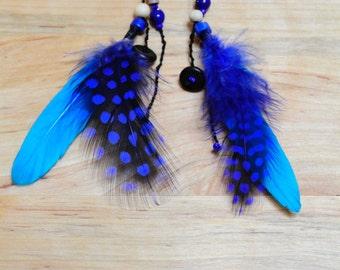 Feather earring / earrings