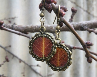 Earrings with fall PEAR