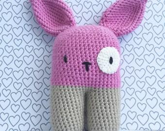 Bunny Rabbit Baby Toy/Plush - Baby shower gift - handmade crochet toy