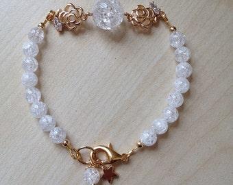 Bracelet with rock crystal