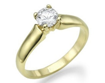 Engagement ring which has 14 k Yellow Gold