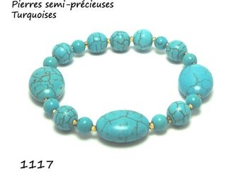 Turquoise round and oval, Semi-precious stones, One piece 0nly