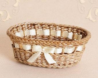 Dollhouse, miniature, diaper basket, scale 1 : 12, WC/105