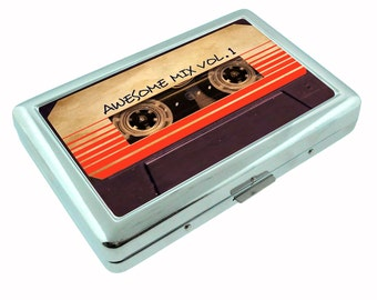 Cassette Guardians of the Galaxy Metal Silver Cigarette Case Holder RFID-Blocking Wallet