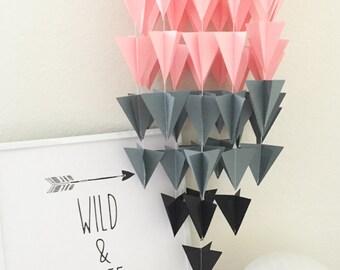 Blush/Pink/Grey/Black Nursery Mobile/ Room Decor