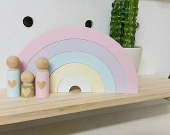 Handmade Rainbow Stacker