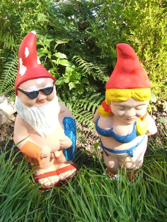 Gnome In Garden: Latex Moulds Or Molds For A Beach And Bikini Garden Gnome