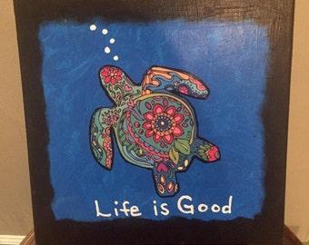 Life is Good Sea Turtle