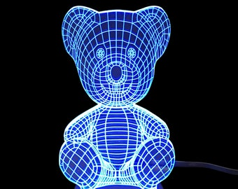 Teddy Bear- LED Night Light Lamp 3D