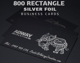 800 silver foil single sided business cards
