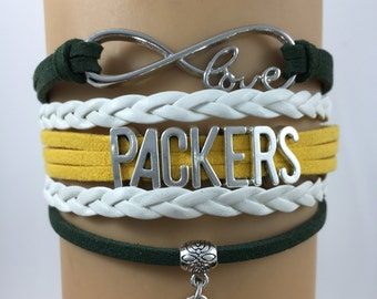 NFL Green Bay Packers Football Infinity Bracelet