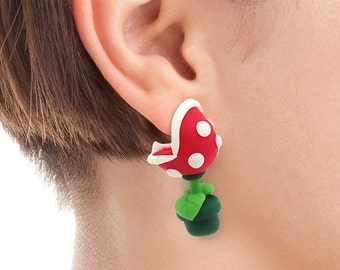 Super Mario Inspired Piranha Plant Earrings