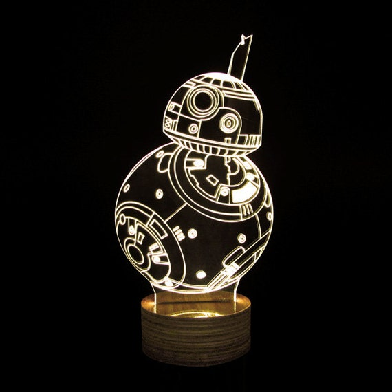 star wars 3d deco lamps bb 8 by geekyget on etsy. Black Bedroom Furniture Sets. Home Design Ideas