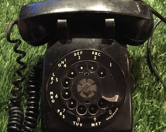 Vintage Black Rotary Telephone Bell System