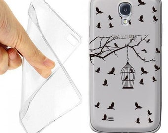Cage birds House case cover for samsung galaxy s4 transparent