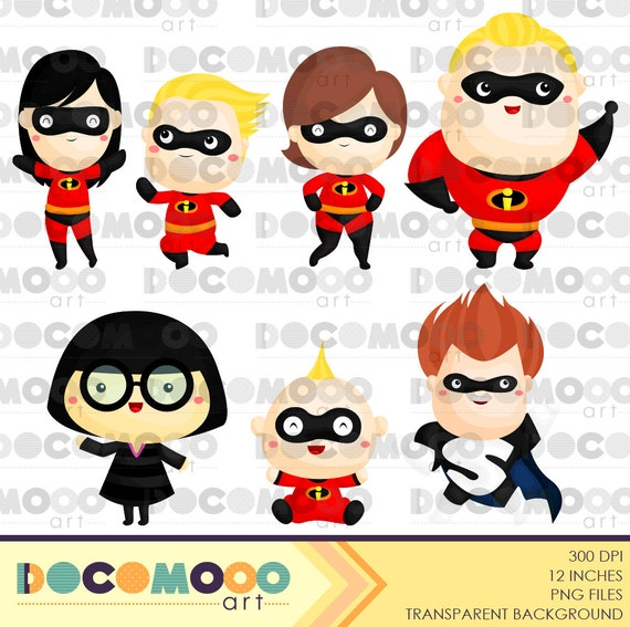 Buy 1 Get 1 Family Heroes Clipart / Digital Clip Art For