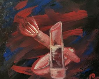 Beauty art - acrylic painting - original art