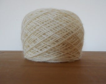 100g Natural Cream Lambswool and Mohair double knitting