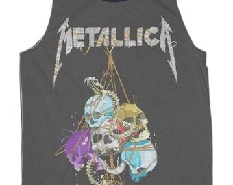 Metallica Shirt Tour Muscle Black Tank Top Women S,M,L,XL