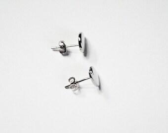 Comma Stud Earrings - Sterling silver