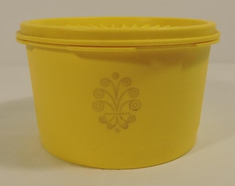 Tupperware Vintage Yellow Canister Coffee Tea