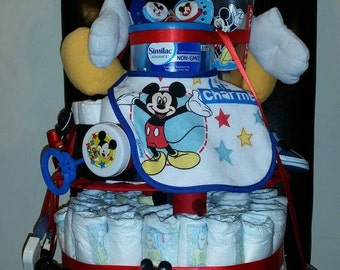 Mickey Mouse Diaper Cake