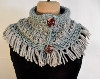 Scarf Turquoise and gray
