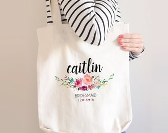 Leaf Monogram Wreath Tote Bag Initial Tote Bag Monogram Tote