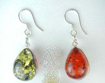Amber Reversible Teardrop Earrings