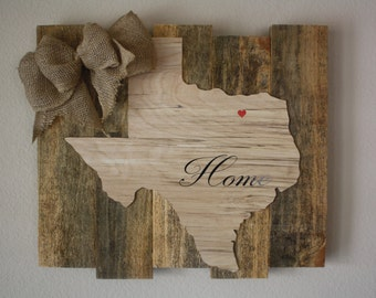 "Rustic Texas ""home"" Wall Art"