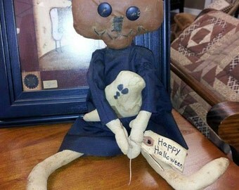 Primitive Pumpkin Head Doll