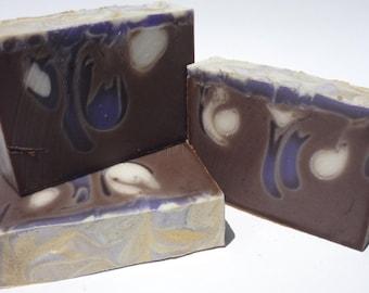 CherNilla - Handmade Soap, Swirl Soap, Cherry/Vanilla-Scented Soap, Cold Process Soap, Hand-crafted Soap