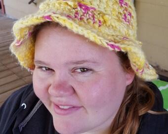 Ice Cream Social-Yellow Floppy Hat