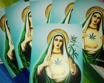 5 Pack Stickers: Mother Mary Jane