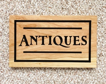 Antiques Wood Sign Antiques Sign Decor Wood Sign Farmhouse Decor Antiques Shop Sign Antiques Store Sign Wooden Sign Rustic Antiques Cherry