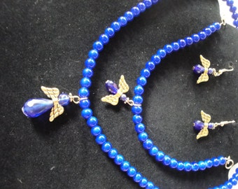 Dark Blue Angel Jewelry Set