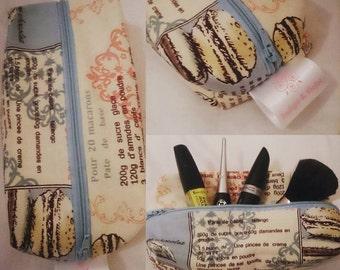 Handmade medium makeup bag afternoon tea