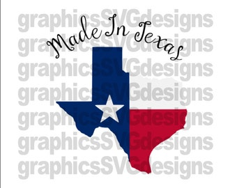 Made In Texas SVG File For Cricut and Cameo Digital Download Cutting File Texas svg Newborn svg, Kids svg file