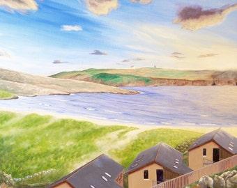 Fine Art Print Greeting Card - Barley Cove Beach
