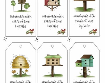 Birdhouse Double Sided Tags - PDF FILE ONLY