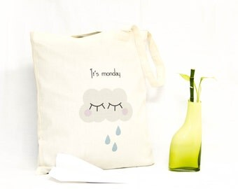 Tote bag pattern cloudy