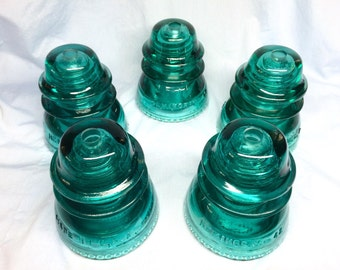 Pre-Drilled Hemingray - 42 Glass Insulator DIY (5 piece)