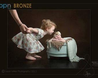 mint wooden barrel bucket tub newborn todler photographt prop